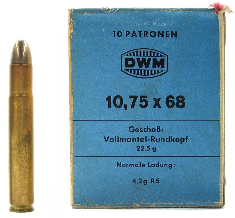 Cartucce DWM 10,75 x 68 per collezionisti