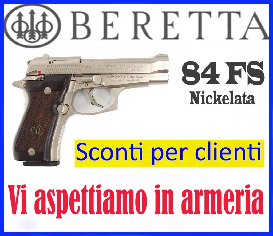 Beretta 84 FS Nickelata